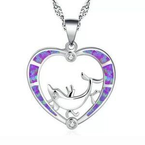Jewelry - Purple fire opal necklace